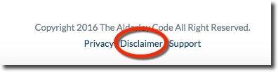alderley-code-disclaimer