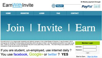 Earn With Invite Review – Scam That Will Not Pay