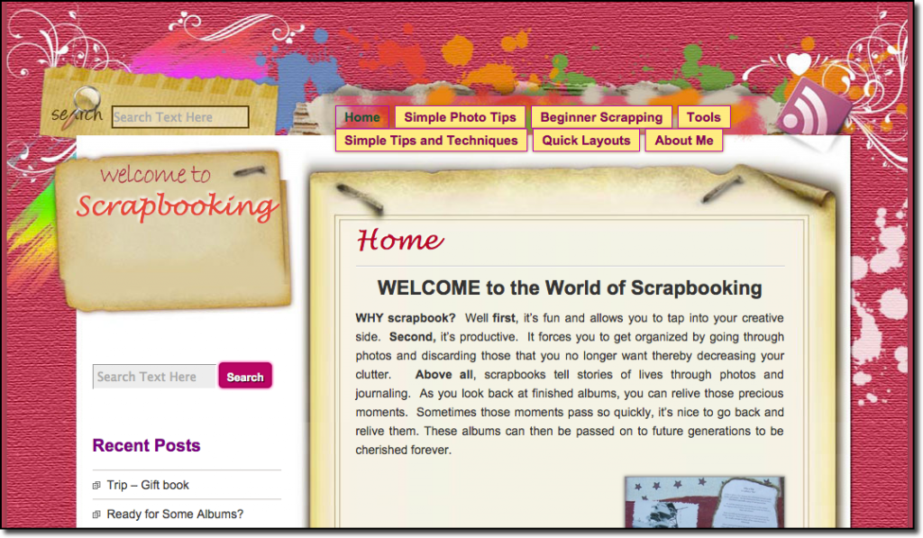 scrap-booking-website
