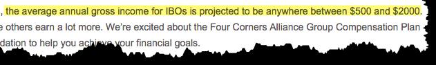 four-corners-alliance-group-income-disclaimer