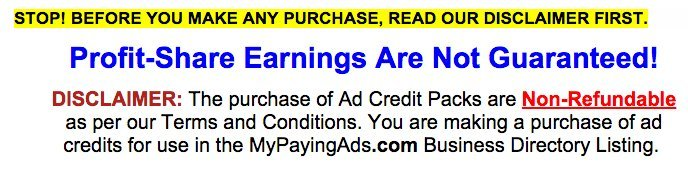 mypayingads.com refund policy
