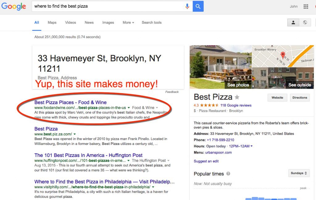 google-pizza-search