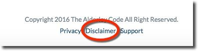 alderley-code-disclaimer