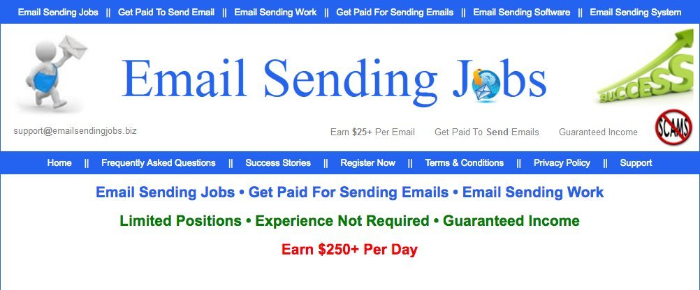 Paid to send emails review