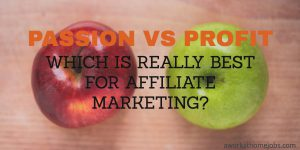 Passion VS Profit: Which is Really Best For Affiliate Marketing?
