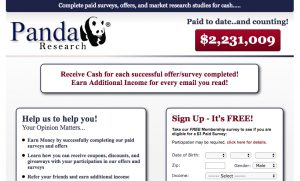 Panda Research Review [2018] – Scam or Legit Survey Site?